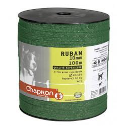 Taśma RUBAN zielona 10mm 100m